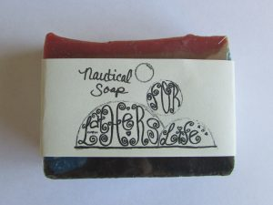 Nautical Soap For Men in a Partial Charcoal Soap Bar